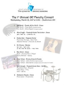 The Faculty's 1st Annual Concert's program